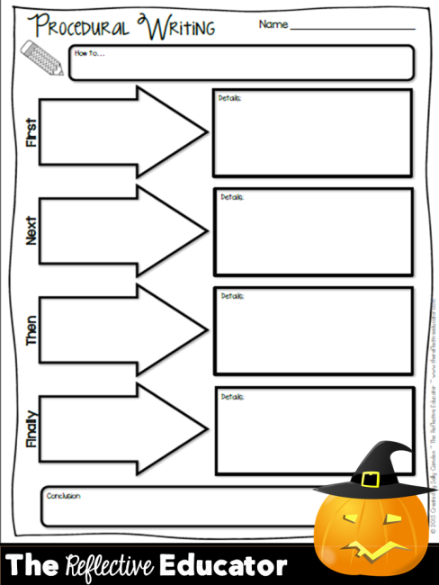 Halloween How To Writing Prompts The Reflective Educator