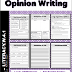 Opinion, Persuasive, and Argumentative Writing