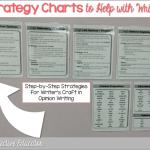 Opinion Writing ~ Craft Strategy Charts