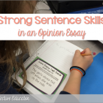 Opinion Writing ~ Sentence Skills