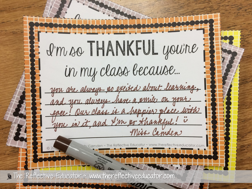 thankful notes