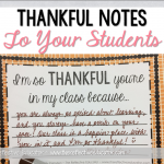 Thankful Notes to Your Students