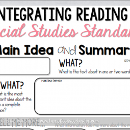 integrating reading and social studies