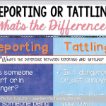Is It Reporting or Tattling?