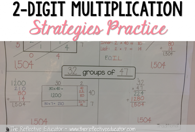 2-Digit Multiplication Strategies Practice