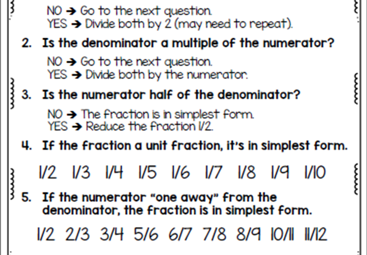 Simple Strategies for Simplifying Fractions