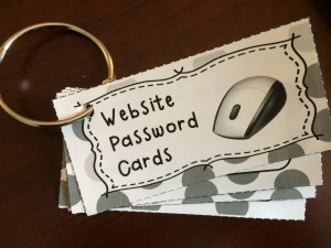password cards