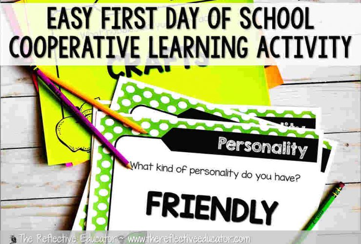 Easy First Day of School Cooperative Learning Activity
