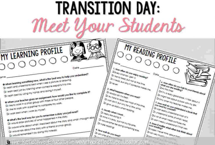Transition Day: Meet Your Students