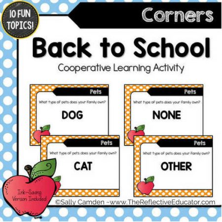 back to school cooperative learning activity