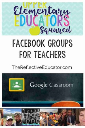 "These three Facebook groups for teachers are excellent resources for professional development. Facebook Groups for elementary teachers are becoming more popular and it is easy to see why. First, it uses a platform many of us visit on a daily basis. Second, it allows us to connect with other teachers who are ""still in the trenches."" Finally, it is very responsive. Have a question or dilemma? Ask your Facebook group for suggestions and get a response that you can put in place right away."
