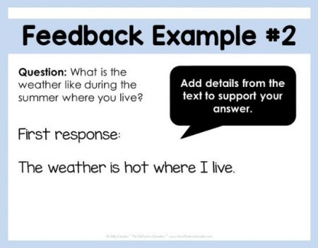 How to Get Students to Use Your Feedback example 2