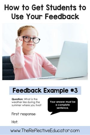 There's no denying that specific, clear feedback given in a timely manner can have a huge impact on student learning. And yet...what if you spend extra time and effort to provide such feedback, but your students don't know how to use it to their advantage? That's what I realized was happening with my 4th graders recently. Here's what I did to fix it! #TheReflectiveEducator #feedback #freepdf #scoringguide