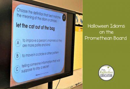Halloween Idioms on Promethean board