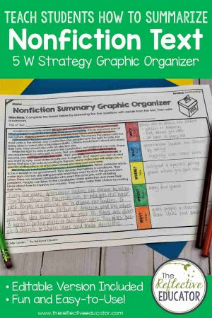 Teach students how to summarize nonfiction text with the use of some colored pencils and a handy nonfiction summary graphic organizer. My students were doing it with confidence...and yours can, too!