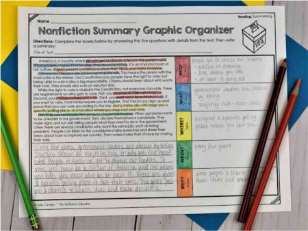 Nonfiction Summary Graphic Organizer Photo
