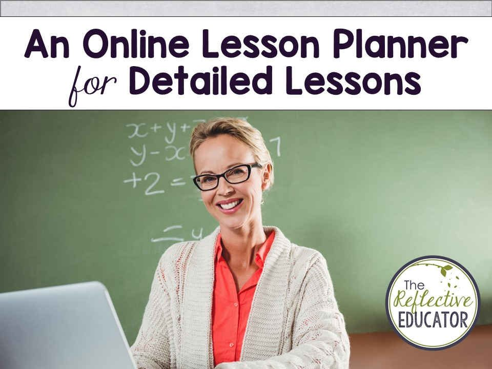 You can easily write detailed lesson plans using an online lesson planner! Learn how I use Planbook.com as my online lesson planner - there's even an app! Have snow days messed up your lesson plans? Make fast and easy edits with the Planbook app. Excellent for all grades. Homeschool #TheReflectiveEducator #lessonplanmaker #lessonplan #lessonplanner